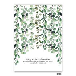 Sparkling Greenery - Gold - Foil Invitation
