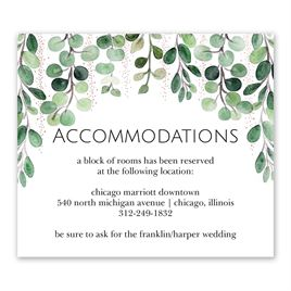 Sparkling Greenery - Rose Gold - Foil Information Card
