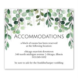 Sparkling Greenery - Silver - Foil Information Card