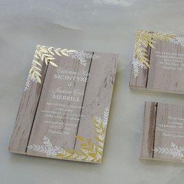 Shimmering Branches - Gold - Foil Invitation