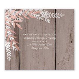 Shimmering Branches - Rose Gold - Foil Information Card