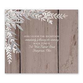Shimmering Branches - Silver - Foil Information Card