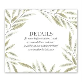 Wedding Reception and Information Cards: Ruscus Frame Information Card