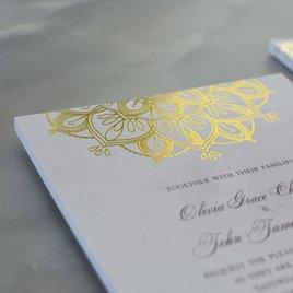 Mandala Bloom - Gold - Foil Invitation