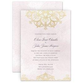 Wedding Invitations: Mandala Bloom Foil Invitation