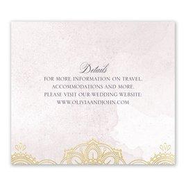 Mandala Bloom - Gold - Foil Information Card
