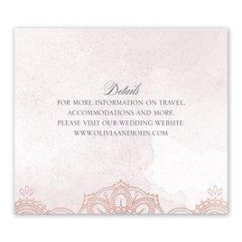 Mandala Bloom - Rose Gold - Foil Information Card