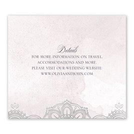 Mandala Bloom - Silver - Foil Information Card