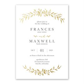 Sweet Surround - Gold - Foil Invitation
