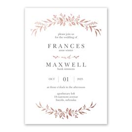 Sweet Surround - Rose Gold - Foil Invitation