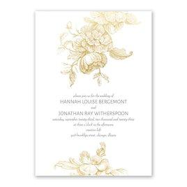 Gilded Garden Foil Invitation