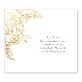 Gilded Garden - Gold - Foil Information Card