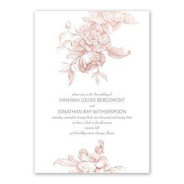 Gilded Garden - Rose Gold - Foil Invitation