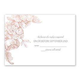 Gilded Garden - Rose Gold - Foil Response Card