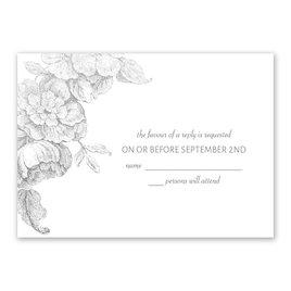 Gilded Garden - Silver - Foil Response Card