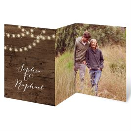 Glowing Lights Trifold Invitaton