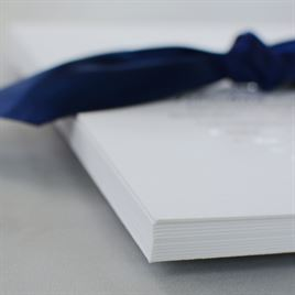 Navy Elegance - Silver - Foil Invitation
