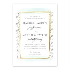 Modern Art - Gold - Foil Invitation