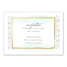 Modern Art - Gold - Foil Reception Card
