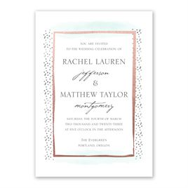 Modern Art - Rose Gold - Foil Invitation
