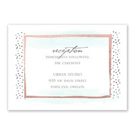 Modern Art - Rose Gold - Foil Reception Card