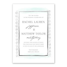 Modern Art - Silver - Foil Invitation