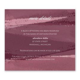 Brushstroke - Burgundy - Information Card