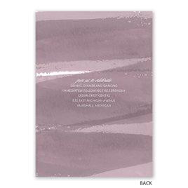 Brushstroke - Dusty Purple - Photo Invitation