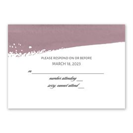 Brushstroke - Dusty Purple - Response Card