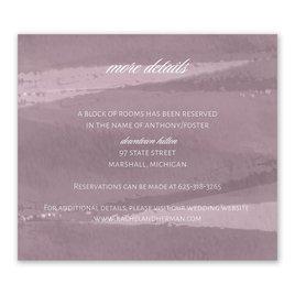 Wedding Reception and Information Cards: Brushstroke - Information Card