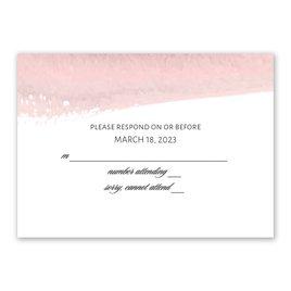 Brushstroke - Pink - Response Card