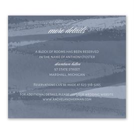 Brushstroke - Slate Blue - Information Card
