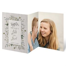 A Life They Loved Trifold Invitation