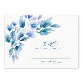 Watercolor Blooms - Aegean - Response Card