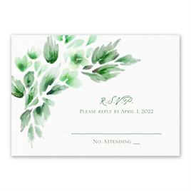 Watercolor Blooms - Hunter - Response Card