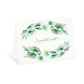 Watercolor Blooms - Hunter - Thank You Card