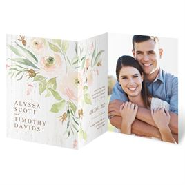 Fresh Floral Trifold Invitation