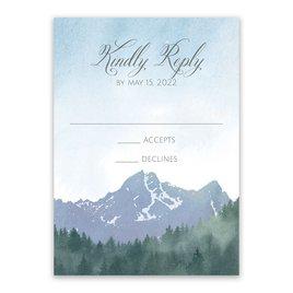 Wedding Response Cards: Mountain Pine Response Card