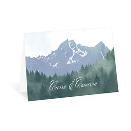 Rustic Thank You Cards: Mountain Pine Thank You Card