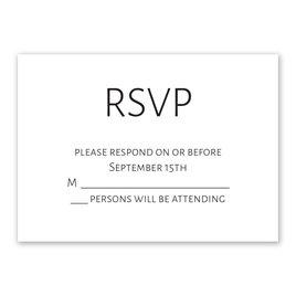 Wedding Response Cards: Minimalist Response Card
