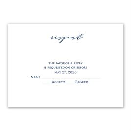 Wedding Response Cards: Clarity Response Card