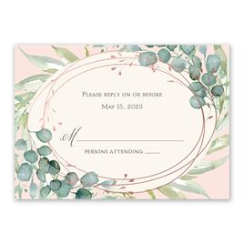 Glimmering Greenery - Rose Gold - Foil Response Card
