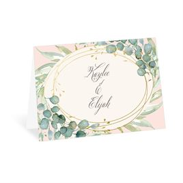 Glimmering Greenery - Gold - Foil Thank You Card