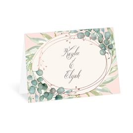 Glimmering Greenery - Rose Gold - Foil Thank You Card