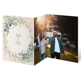 Glimmering Greenery - Rose Gold - Foil Trifold Invitation
