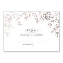 Sketched Botanical - Rose Gold - Foil Response Card
