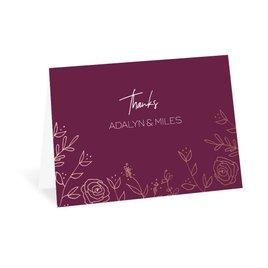 Sketched Botanical - Rose Gold - Foil Thank You Card