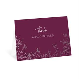 Thank You Cards: Sketched Botanical Foil Thank You Card