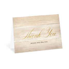 Thank You Cards: Our Happy Foil Thank You Card