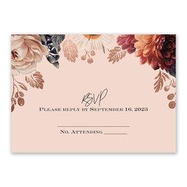 Wedding Response Cards: Lavish Floral Response Card